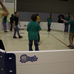 Octoball indoors in Octopit USA gaga pit