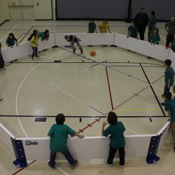 Indoor game of Gaga ball with Octopit USA