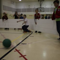 Octopit indoors- children playing Gaga Ball