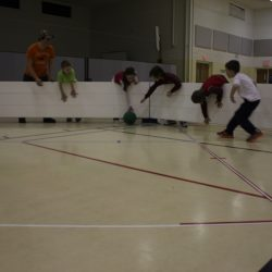 Kids playing gaga ball in Octopit