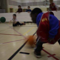 Playing gaga ball in the Octopit USA gaga ball pit.