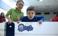 Kids enjoying indoor gaga games with Octopit
