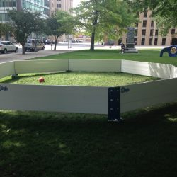 Outdoor Octopit USA gaga ball pit setup.