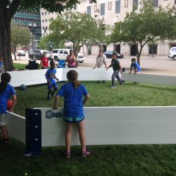 Children playing Gaga Ball in Octopit