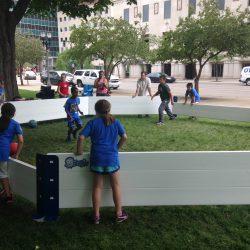 Children playing Gaga Ball in Octopit