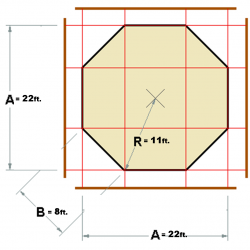 Octopit layout and dimensions for octoball