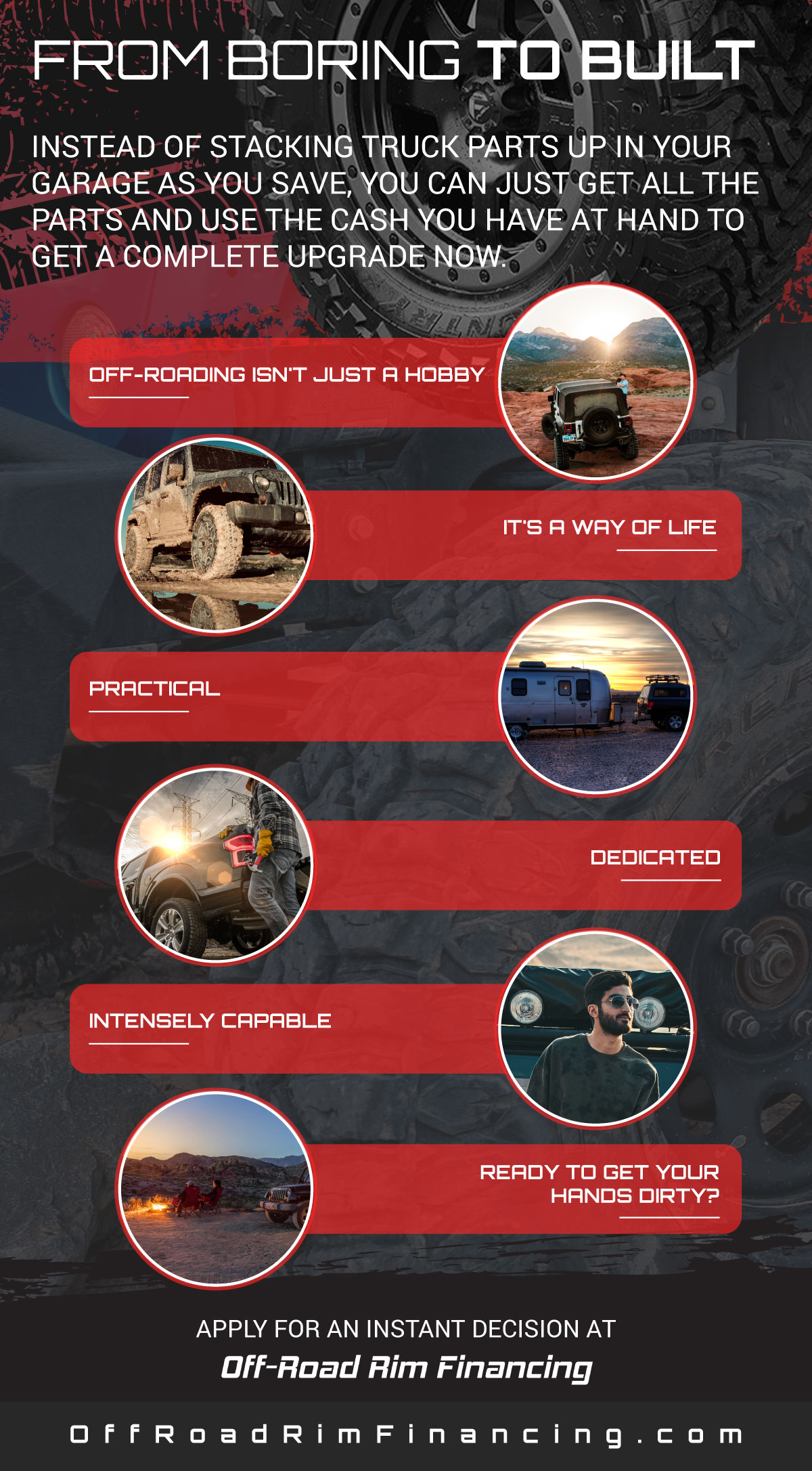From Boring to BUILT Infographic