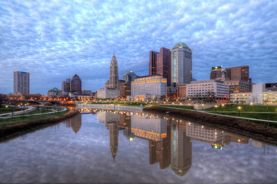 The city of Columbus, Ohio.