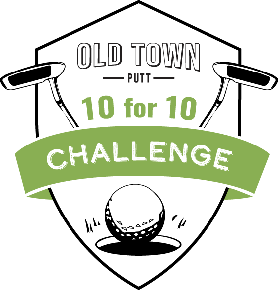 Old town putt 10 fo 10 challenge logo