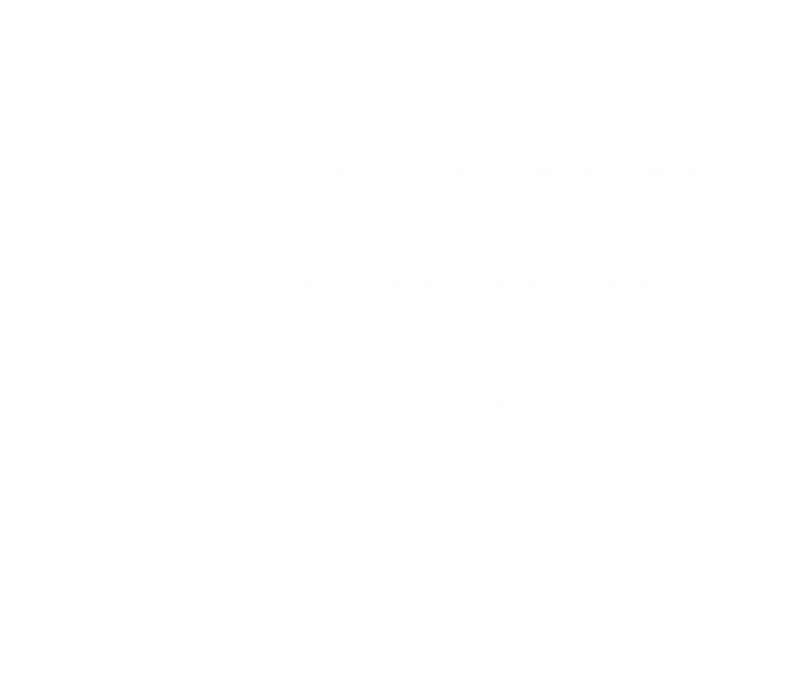Old town putt lifetime membership logo - white