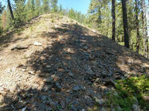 Large pile of waste rock