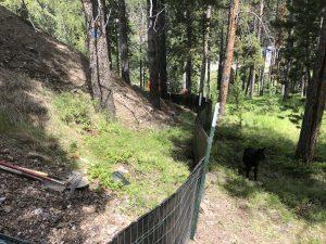 Silt fence on steep slope