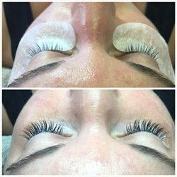 Eyelash extension results