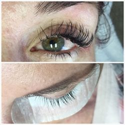 Before & after eyelash extensions