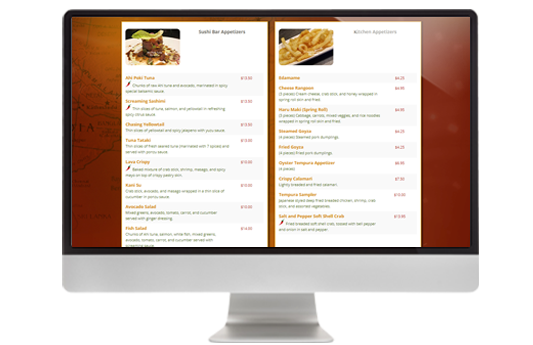 image relating to Printable Menus titled Dynamic Printable Menu - Cafe Menu Application On-line Orders At present