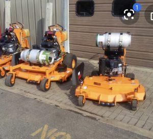 propane powered mower