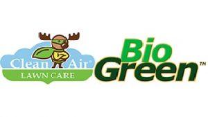 biogreen and clean air lawn care logo