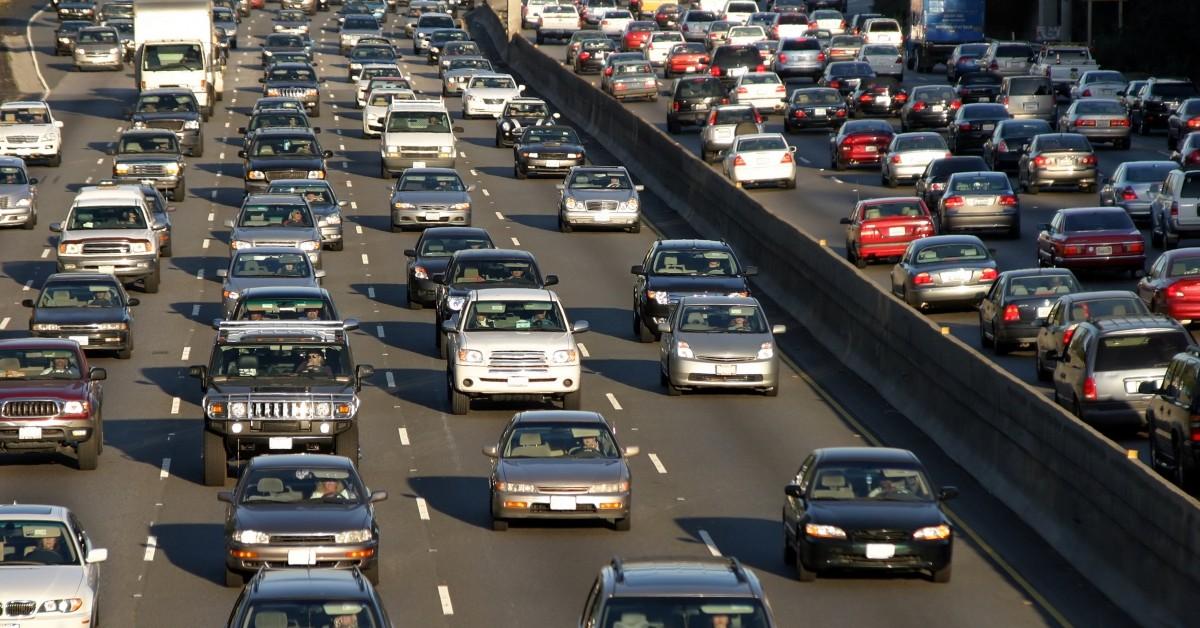 Aerial Rush Hour Traffic