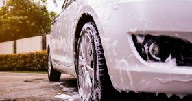 Clean White Car