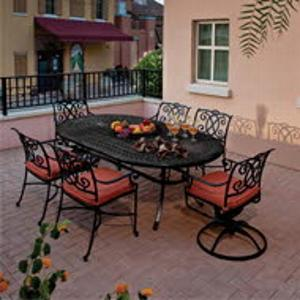 We offer affordable aluminum patio tables and chairs.