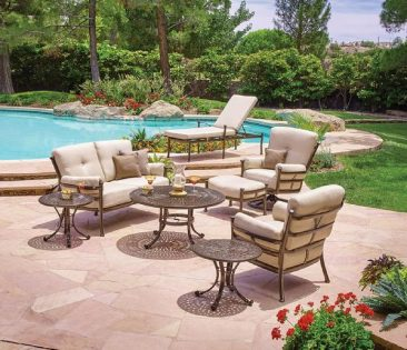 Shop our aluminum outdoor chairs and tables.