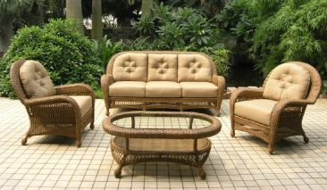 We offer beautiful wicker patio furniture for less