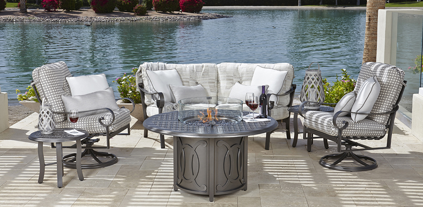 ramsgate by woodard source for quality affordable aluminum patio furniture