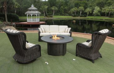 We offer beautiful, affordable outdoor wicker chairs and tables.