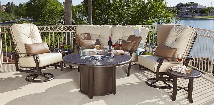 Belden Firepit By Woodard Furniture We Offer Quality Aluminum Patio  Furniture For Less.
