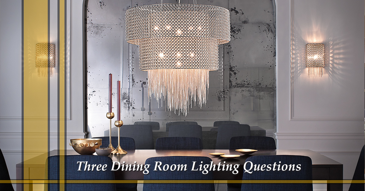 Lighting Store Grapevine Three Dining Room Lighting Questions