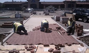 commercial brick paver parking lot Denver CO