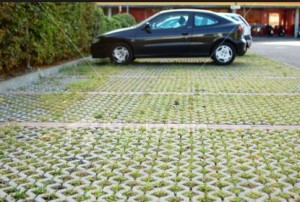 Permeable pavers, parking lot Denver CO