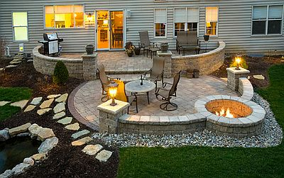 Superb ... Brick Paver Patio And Firepit Denver