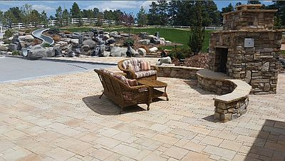 Exceptional Paver Patio Paverstone Fire Pit And Seat Wall Brick Paver Pool Deck Denver  CO
