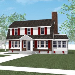 An image of a 3d home with a completely replaced foundation.