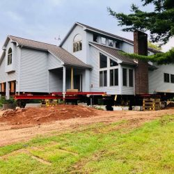 A modern home lifted at the frame - Payne Construction Services