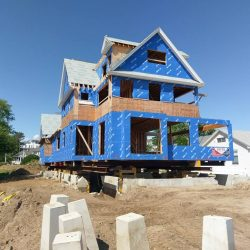 A new construction house lifted for foundation repair - Payne Construction Services