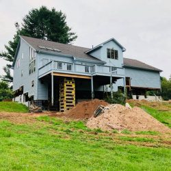 A whole house lifted from the foundation - Payne Construction Services