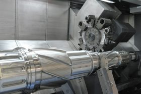 An image of shiny, chrome industrial equipment.