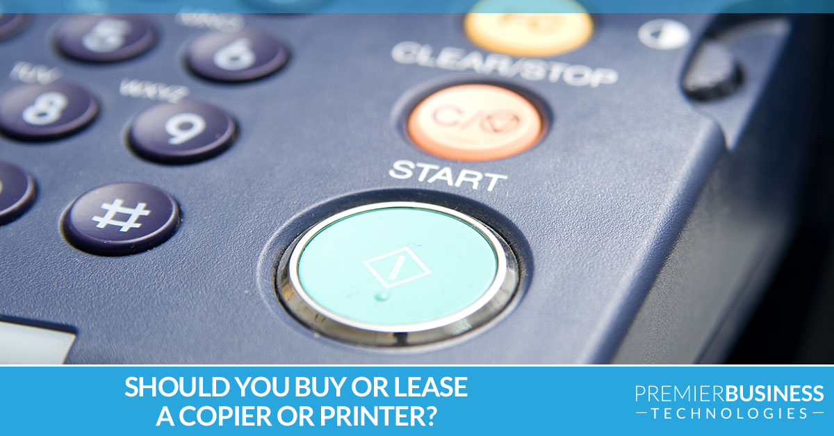 Should you buy or lease a copier or printer?