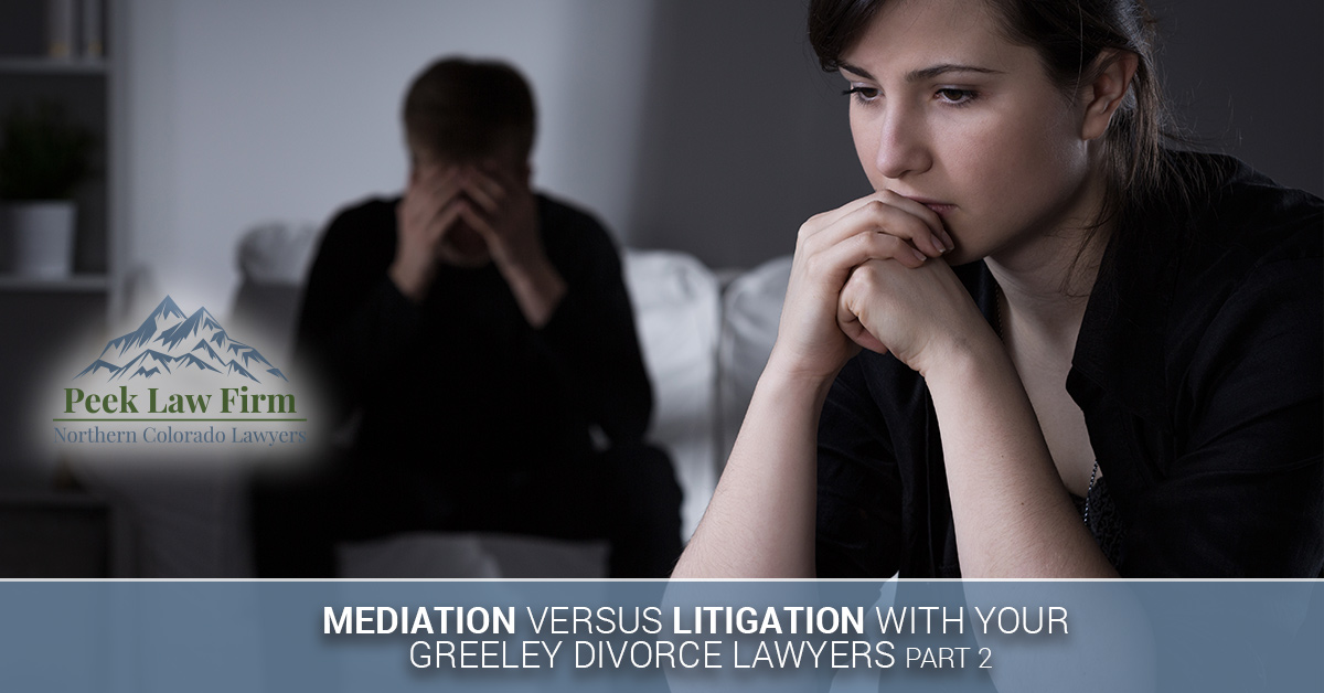 Divorce litigation vs mediation