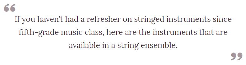 string ensemble 1