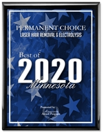 PERMANENT CHOICE IS PLEASED TO RECEIVE THE BEST OF HAIR REMOVAL IN MINNESOTA FOR THE 12TH YEAR IN A ROW!