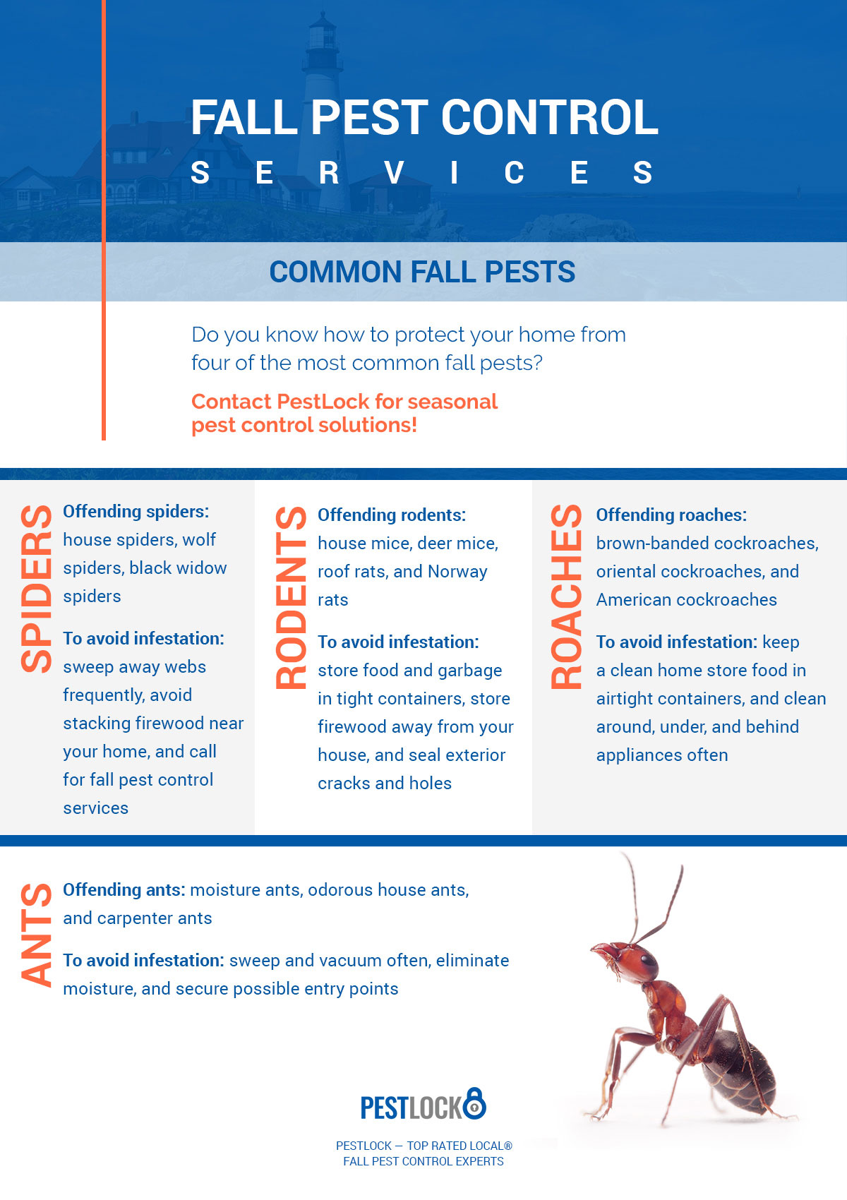 Fall Pest Control - Call For Your Fall Pest Inspection