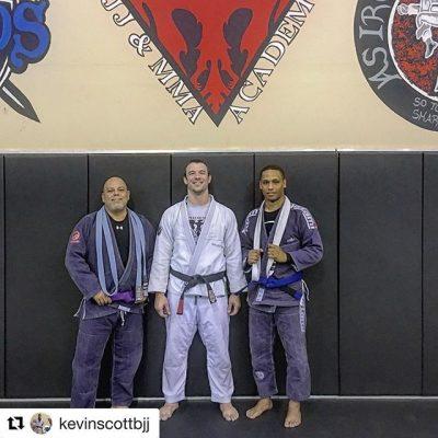 Atos West Phoenix Brazilian Jiu Jitsu has a brand new purple and blue belt