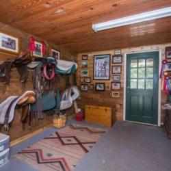 The tackle room at our horse stables - Pink Flamingo Stables
