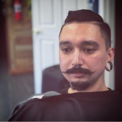 Men's Moustache and Beard Trim At Pinky's Chop Shop