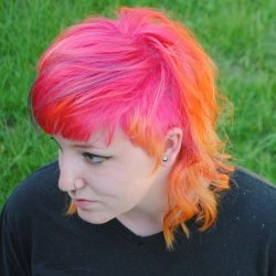 Women's Fantasy Haircolor - Pink And Orange