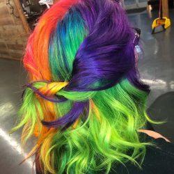 Women's Fantasy Haircolor - Neon Rainbow