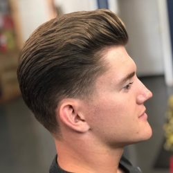 Men's Quiff Hairstyle At Pinky's Chop Shop